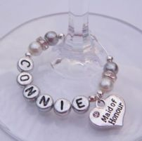 Maid Of Honour Wine Glass Charms